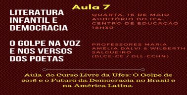 Cartaz - Curso Livre na Ufes - O Golpe de 2016...